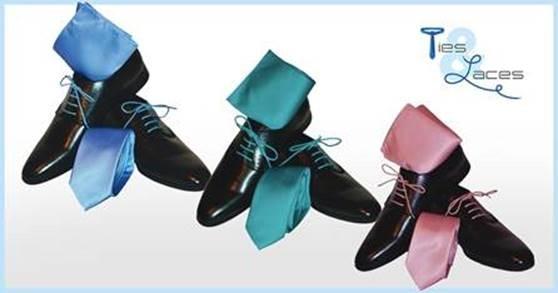 20 % Zomer solden bij Ties & Laces op alle combi stropdas, veters en pochet!